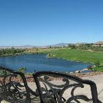 Beautiful view of lake and greens