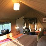sleeping area, tent # 5
