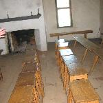 We sat in the little school house chairs and were given a quick lesson on Staten Island History