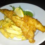 Cod & chips with mushy peas