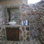 """starlight"" shower, with sink and toilet also outside"
