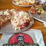 We had my favorite-sauerkraut/canadian bacon, taco and the works pizzas.