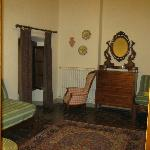 living room area, view from bedroom