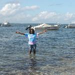 standing n ocean