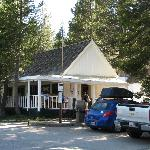 The restaurant, general store and check-in.