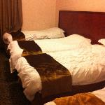 The beds looked ok (they were neater when we arrived)