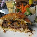 8oz. Jr. Pine River Burger with side garden salad - DELICIOUS!
