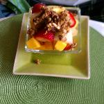 Fruit with granola