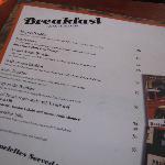 Breakfast menu...