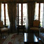 Spacious living room of Suite Canaletto