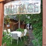 Vintage Restaurant Entrance