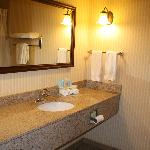 Granite counter top in bathroom