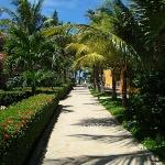 Walk from room to beach and restaurant
