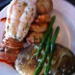 Seafood Trio - Lobster Tail, Prawns and Bacon Wrapped Scallops
