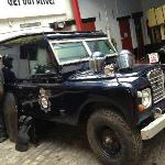 a rare beast a armoured landrover from south yorkshire police