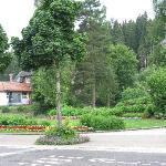Kleine Parkanlage gegenüber dem Hotel