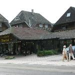 Blick auf das Hotel Waldeck