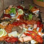 Fischplatte vom Festbuffett