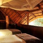Upstairs bedroom in 3 bedroom lodge