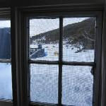 Lots of snow outside our window! Warm inside though!