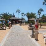 Private beach belong to hotel