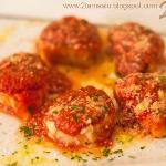 Trío de rosette de pasta rellena de: ricotta y espinacas, jamón y fontina, setas y ricotta, grat