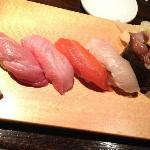excellent sushi platter