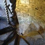 the eerie tight staircase leading to the blarney stone