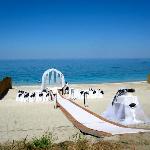 Wedding area at Papa Nero Beach