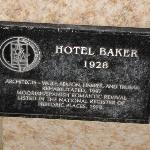 Historic plaque outside the hotel entrance