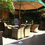 The outdoor patio
