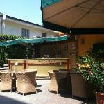 The outdoor patio for food and beverage
