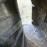 spiral staircase in Carrigafoyle Castle