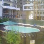 pool and new hotel being built