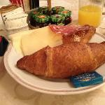 my first breakfast in Florence