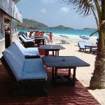Coco Beach Restaurant - front beach dining area tables