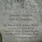 En sten over Dronning Dagmar.
