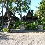maisons à quelques mètres de la plage