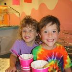 Some of our youngest patrons enjoying their froyo!