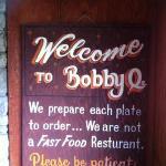 Sign for the restaurants