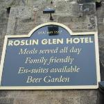 Sign on the hotel