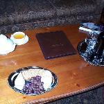 cheese & wine (tea set is mine)