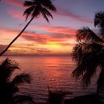 Sunset from horizon spa villa
