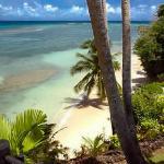 Private beach for lower beach villa