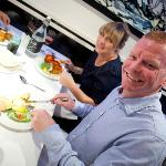 Customers enjoying our selection of starters