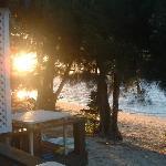 Sunrise over Muri Lagoon