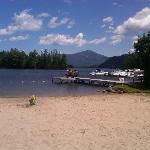Mirror lake private beach