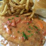 The Chicken Cutlet w/ Creole Tomato Gravy!