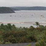 A view of the sandbars of Bar Harbor, ME viewed from The Looking Glass