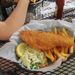 The Fish and Chips - one big cod fillet w/ french fries